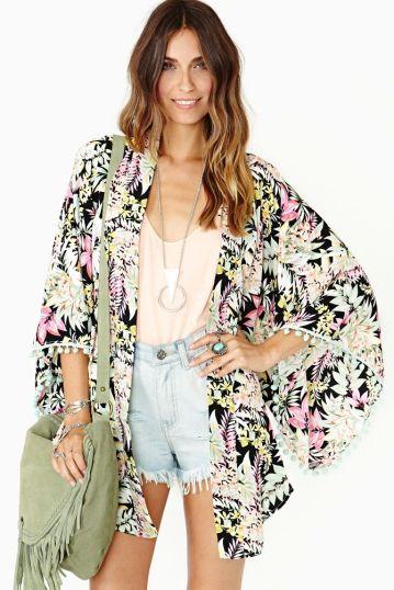 Easy kimono jacket